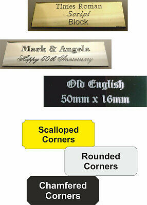 Personalised Engraved Plate - colour, size, font options -custom sizes available