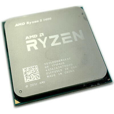 AMD Ryzen 5 1400 R5 3.2 GHz QuadCore CPU Performance Gaming Processor Socket AM4