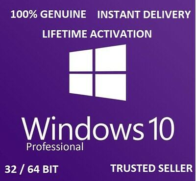 Microsoft Windows 10 Pro 32/64Bit Genuine Key/License - Instant Delivery