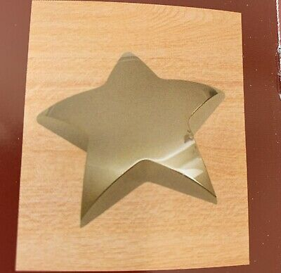 Paper Weight Desktop Brass Star Shaped New In Box