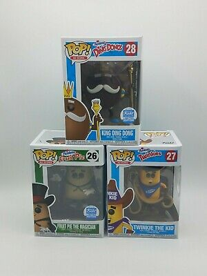 Lot of 3 Funko Pop! Ad Icons Hostess Twinkie, King Ding Dong, Fruit Pie Magician