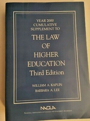 The Law of Higher Education 2000 Cumulative Supplement    x