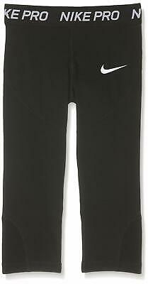 Nike Girls Leggings Black Size Large L Activewear Moisture-Wicking $35 103