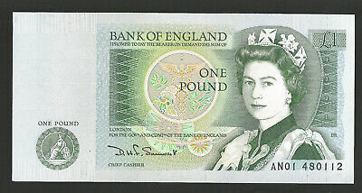 B341 Somerset 1981 One Pound £1 Banknote An01 480112 - Unc