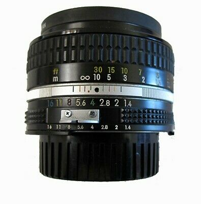 Nikon NIKKOR 50mm F/1.4 Ai-S manual focus lens.  Mint pre-owned condition $149