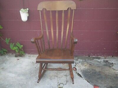 Tell City Chair Company Indiana Rocking Chair R 660 Pattern #49 Rumford Finish