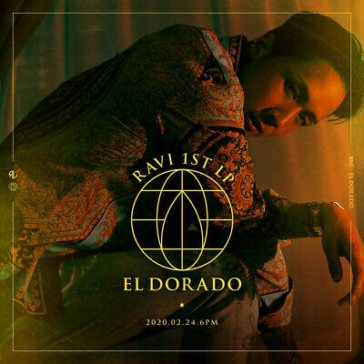 VIXX RAVI [EL DORADO] 1st Album CD+Photo Book+Sticker+Post Card+Gold Coin SEALED