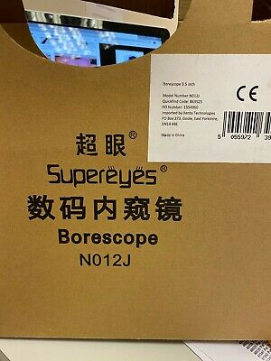 Supereyes endoscope no12j with accessories boxed