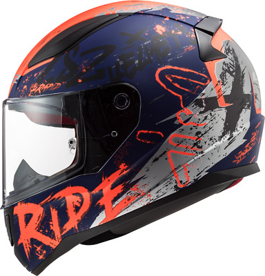 Dark Tinted Visor Full Face Motorbike Helmet Motorcycle Adult Rider Biker Sports Crash Helmet LS2 FF353 RAPID HAPPY DREAMS GLOW-IN-THE-DARK SCARY CLOWN M