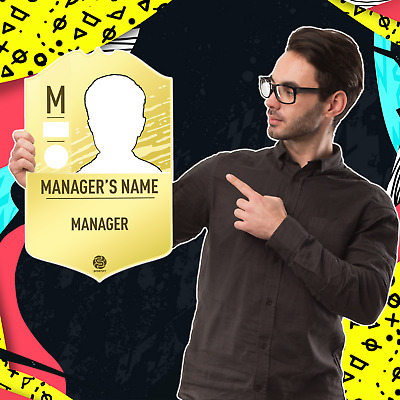 Personalised Manager's FUT Card - FIFA 20 Ultimate Team (Foamex Board)