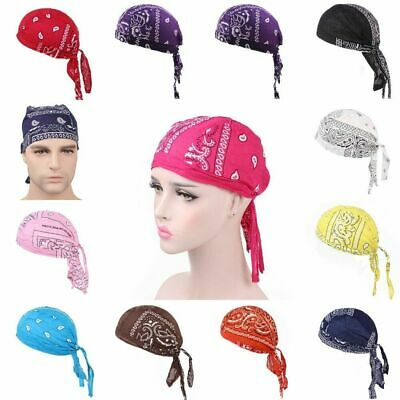 SOLID LEATHER Biker SKULL CAP Motorcycle Bandana Head Wrap Du Doo Do Rag
