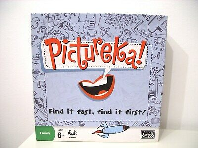 Pictureka Find it Fast, Find it First 1st Edition Board Game