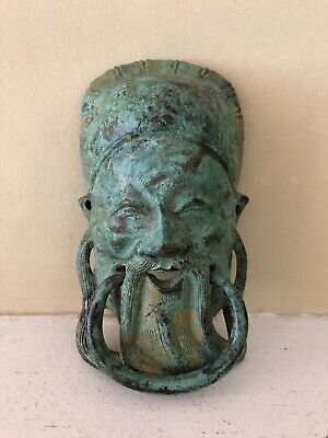 "Antique Chinese Bronze Door Knocker (3.5"" x 6"")"