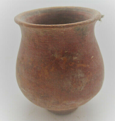 Ancient Greek Mycenae Terracotta Redware Vessel Circa 1500Bce