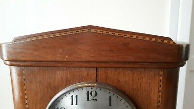 Antique German HAC wooden mantle clock for restoration