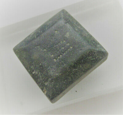 Authentic Byzantine Period Bronze Cube Solidus Weight.