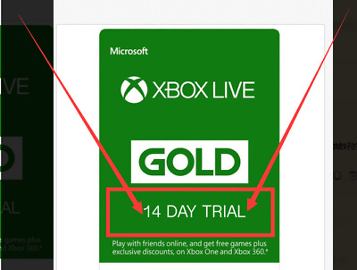 Xbox Live 14 Day 2 weeks Gold Membership Trial Code Very FAST Instant Delivery