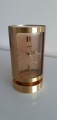 Swiza 8 Day Mechanical Quality Cylindrical Swiss Carriage Clock. Working Order.