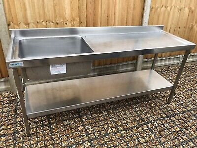 Stainless Steel Table With Sink 1800L x 820H x 550D