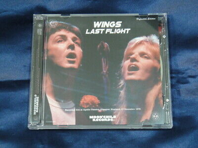 Wings Last Flight 1979 December 17 CD 2 Discs Set Moonchild Records Music Rock