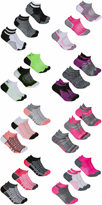 New Ladies 3 Pairs Red Tag Ankle Running Sports Gym Trainer Liners Socks UK 4-8