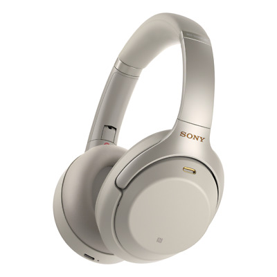 Sony Refurbished WH1000XM3 Wireless Noise Canceling Bluetooth Headphones Silver