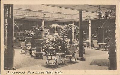 Exeter, England - UNITED KINGDOM - New London Hotel - Courtyard - 1915