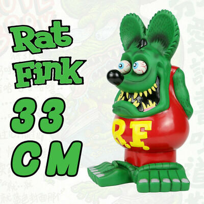 "13"" Green Red Rat Fink Action Figure Roth Ed Big Daddy Statue Model Toy"