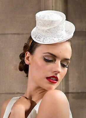 Wedding races occasion hat top hat fascinator statement lovely! Feather flowers