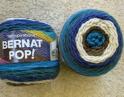 Yarn  Birch Bark /& Blue Yarnspirations Bernat POP