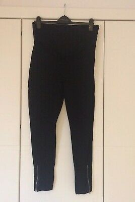 Black Blooming Marvellous Maternity Leggings/Trousers. Size 12. Over The Bump.
