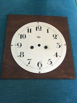Antique Metal Silver Coloured Wall Clock Dial Face Spares Repair Parts