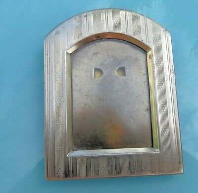 Art DECO Nouveau ARTS & CRAFTS Vintage Tin Metal STANDING Picture Frame Photo