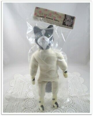 """Craft positionable white muslin doll with black bead eyes approx 13.2/"""" tall NEW"""