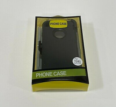 For Apple iPhone 7 & 8 Case with | Belt Clip Fits Otterbox DEFENDER SERIES BLACK