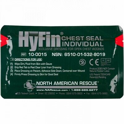 North American Rescue Hyfin Chest Seal Individual 10-0015