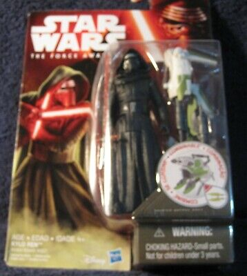 """Star Wars The Force Awakens Kylo Ren Forest Mission 3.75"""" Action Figure Moc"""