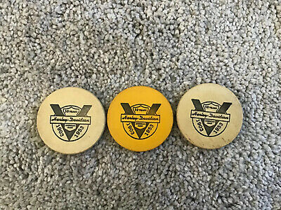 RARE 1953 Harley Davidson Poker Chip Extremely Hard To Find!