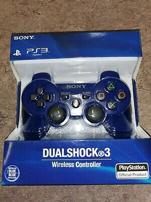 BRAND NEW Sony PlayStation 3 DualShock Controller Blue PS3 Genuine SEALED