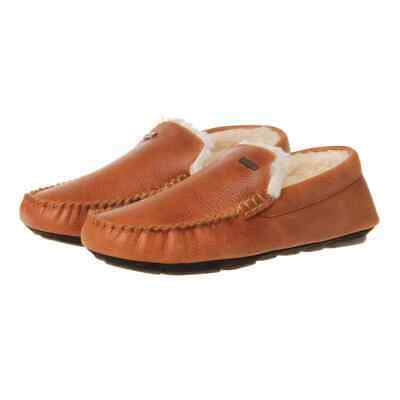 SALE EVENT Barbour Monty Slippers Tan Leather