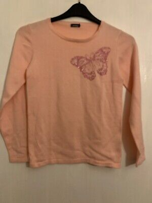 Pretty In Extenso Pink Ladies Butterfly Jumper Size 12 W4