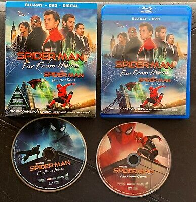 SPIDER-MAN Far From Home 2-disc Blu-ray & DVD,  w/ slipcover (no digital code)