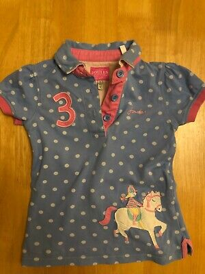 Joules Blue Spotty Horse Polo Shirt - 5 Years