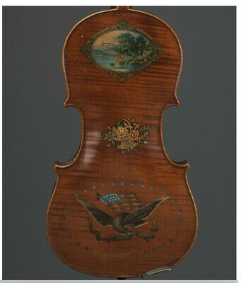 UNIQUE COLLECTORS American Civil War Patriotic Violin, circa 1900.