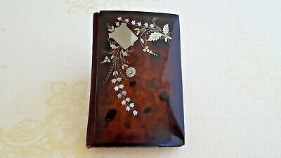 Antique St Silver & faux tortoiseshell & mother of pearl Carnet du Bal - Memoire