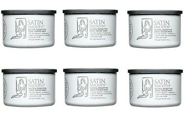 Pack Of 6 Satin Smooth Zinc Oxide Wax 14 Oz