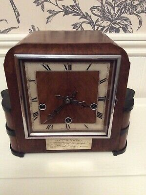 Antique  Art Deco Westminster Chiming Mantle Clock Enfield Movement
