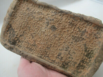 Circa 3000Bce Ancient Near Eastern Clay Tablet With Early Form Of Writing Large