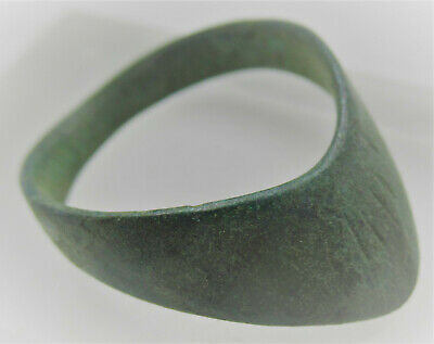 Circa 300-400Ad Ancient Roman Bronze Archers Thumb Ring Military Artefact