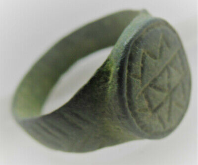 Detector Finds Ancient Viking Bronze Signet Ring With Runic Engravings